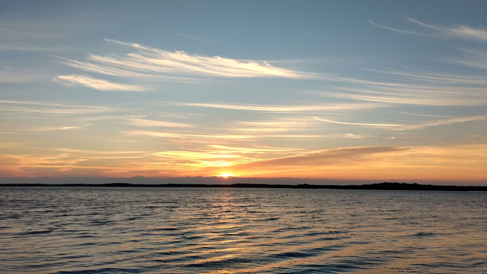Sunrise on Largo Sound, March 16, 2017